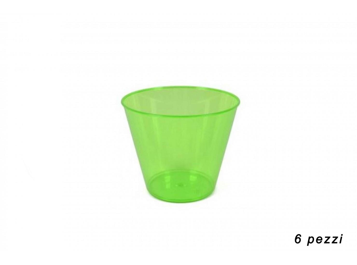 COPPA GELATO PLAST. VERDE 6 PZ