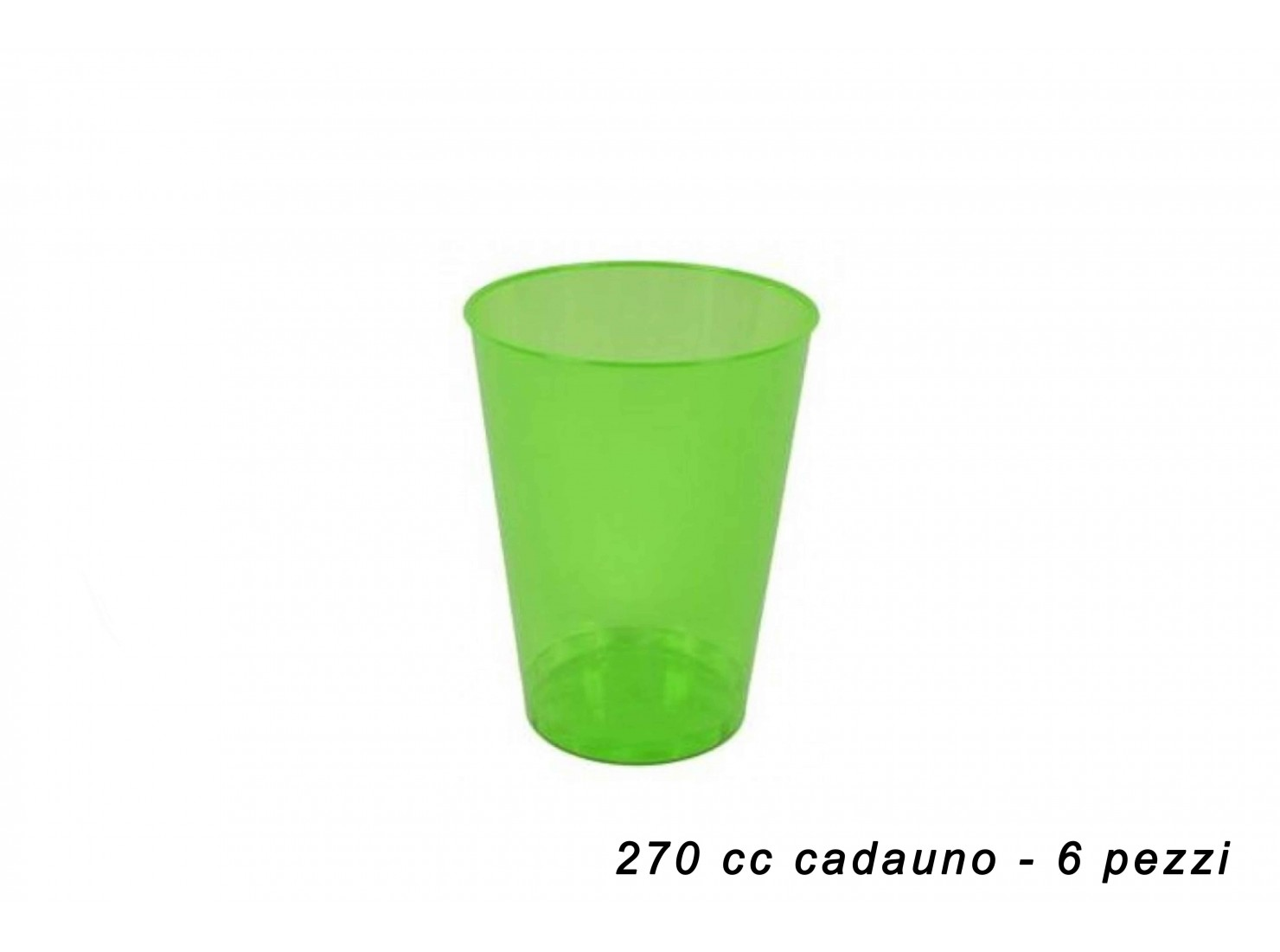 BICCHIERI PLAST. VERDE 270...