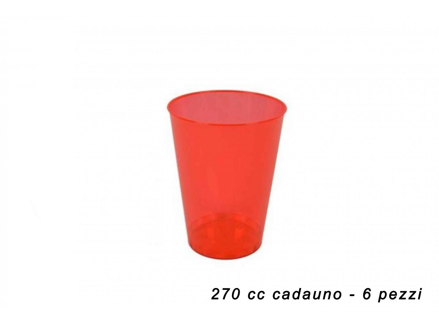 BICCHIERI PLAST. ROSSO 270...