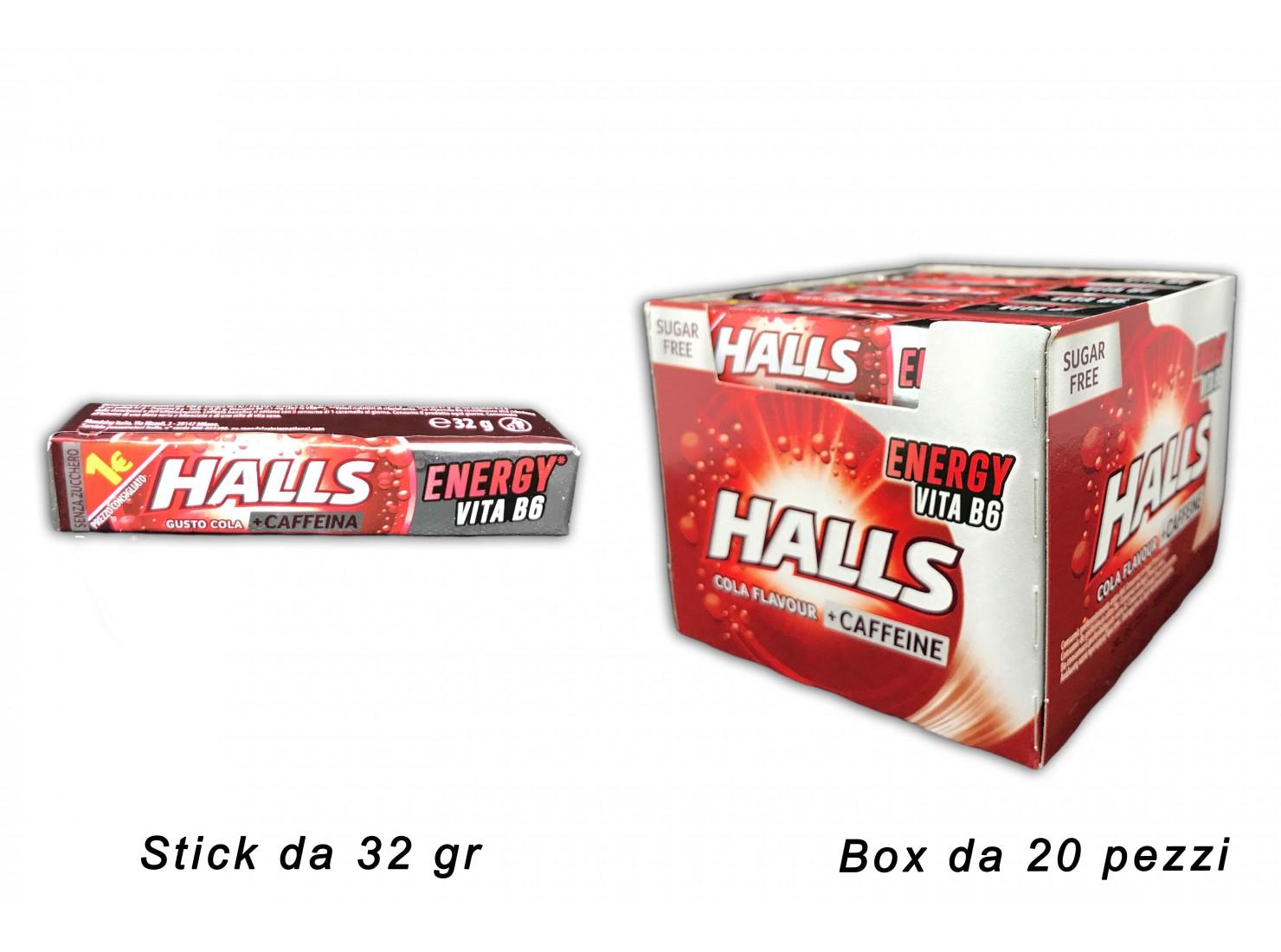 HALLS COLA/CAFFEINA 32 GR