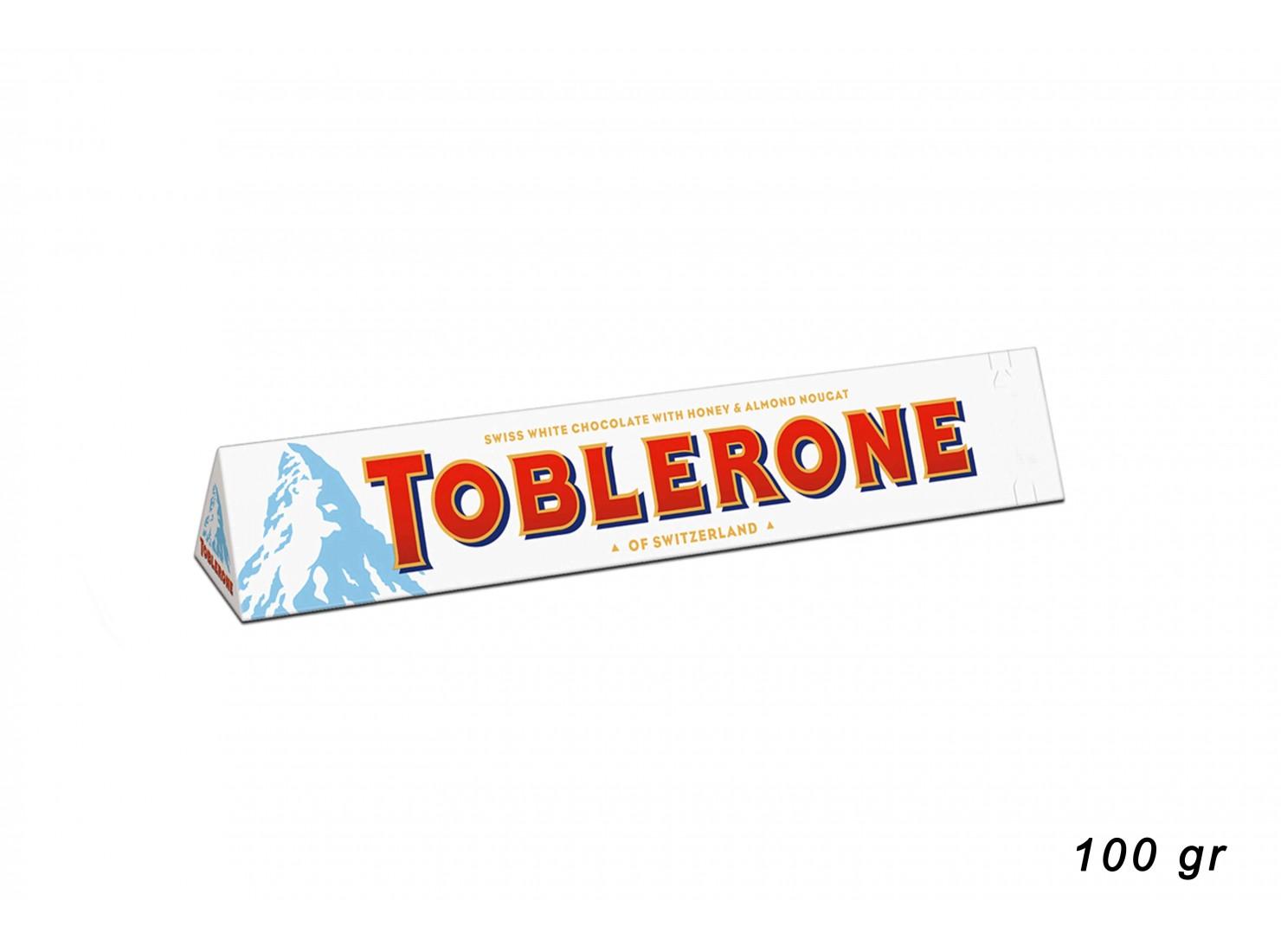 TOBLERONE WHITE 100 GR