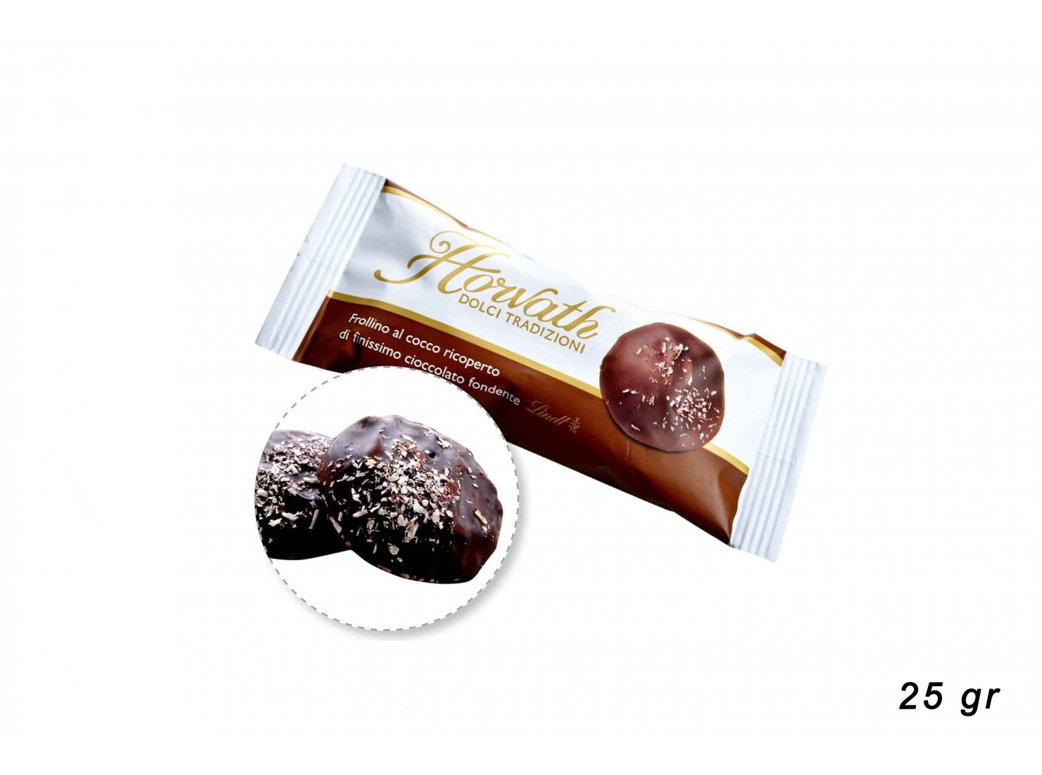 FROLLINI COCCO LINDT 25 GR