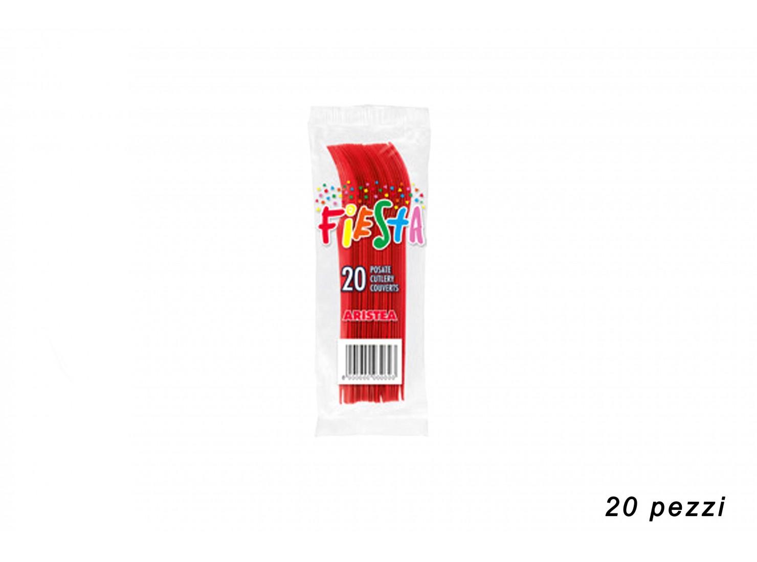 FORCHETTE ROSSO 20 PZ