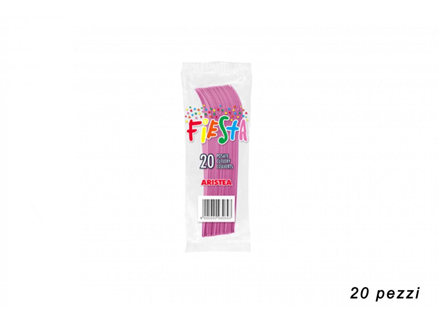 FORCHETTE ROSA 20 PZ