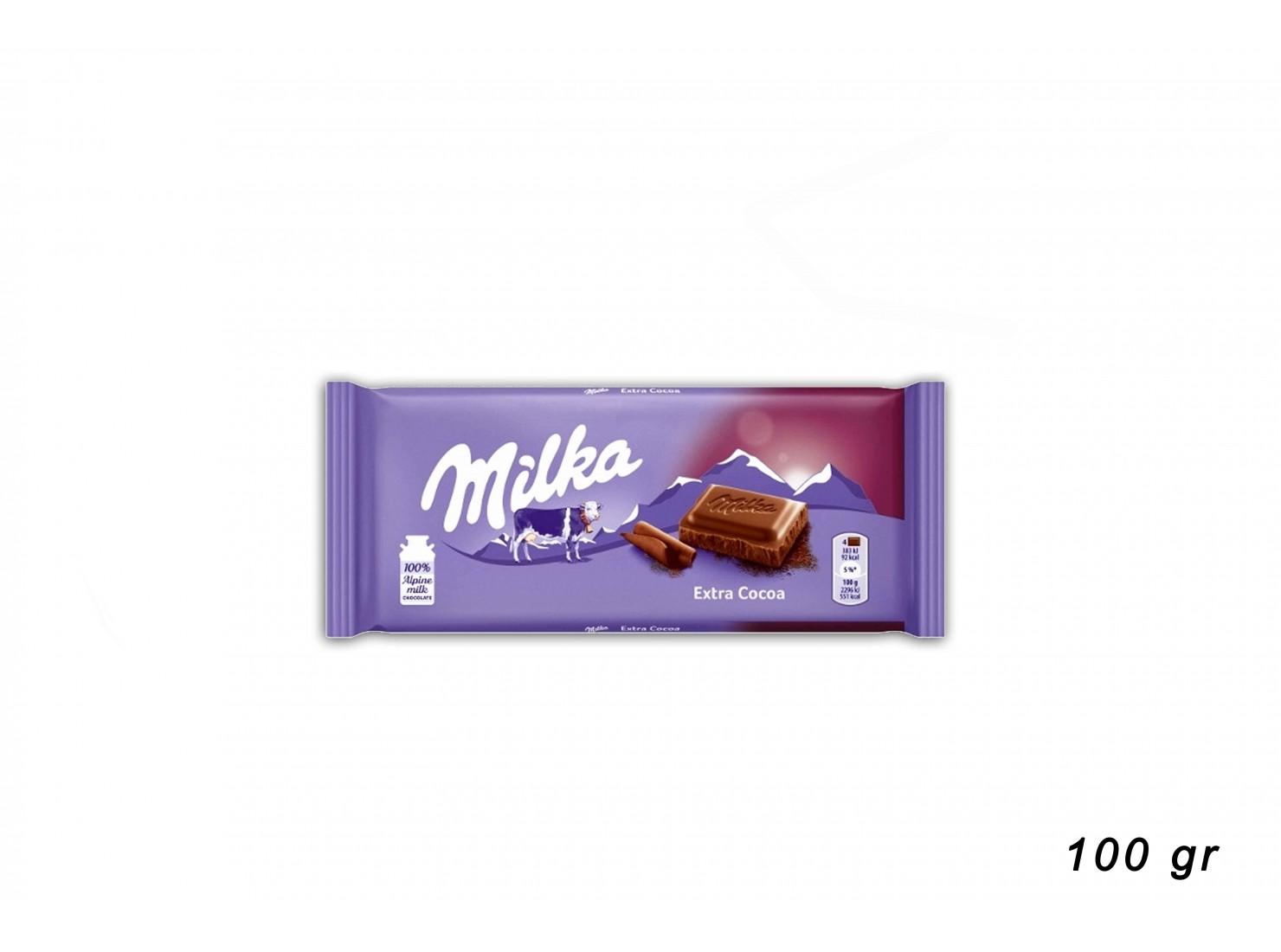 MILKA EXTRA  CACAO 100GR