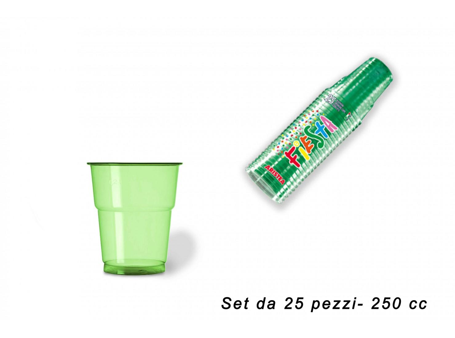 BICCHIERE 250 CC PET VERDE...