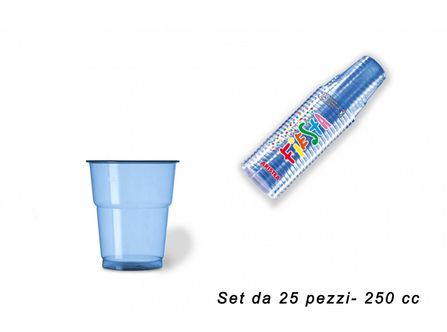 BICCHIERE 250 CC PET AZZURR...
