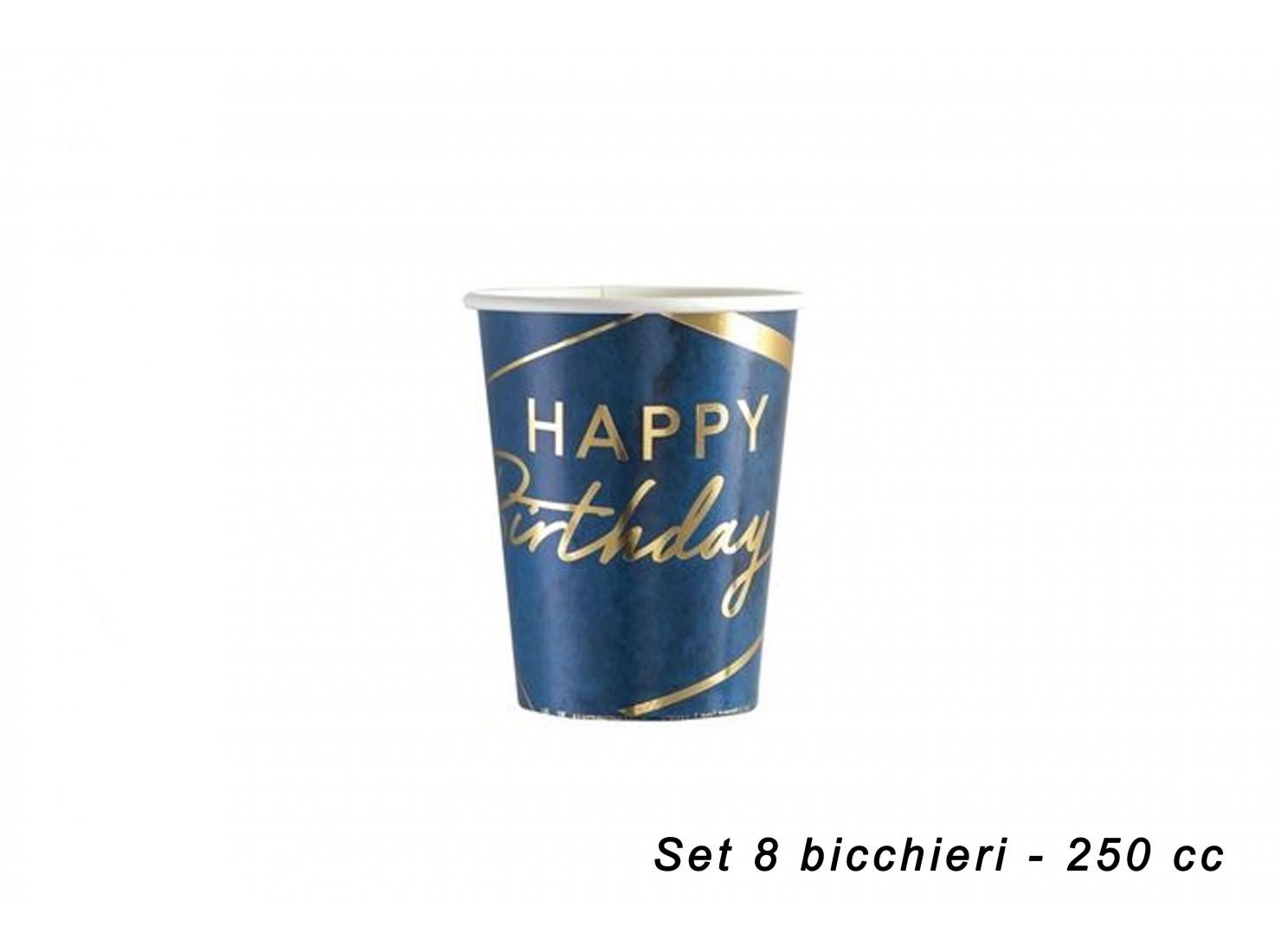 BICCHIERI BIRTHDAY BLU 8 PZ...