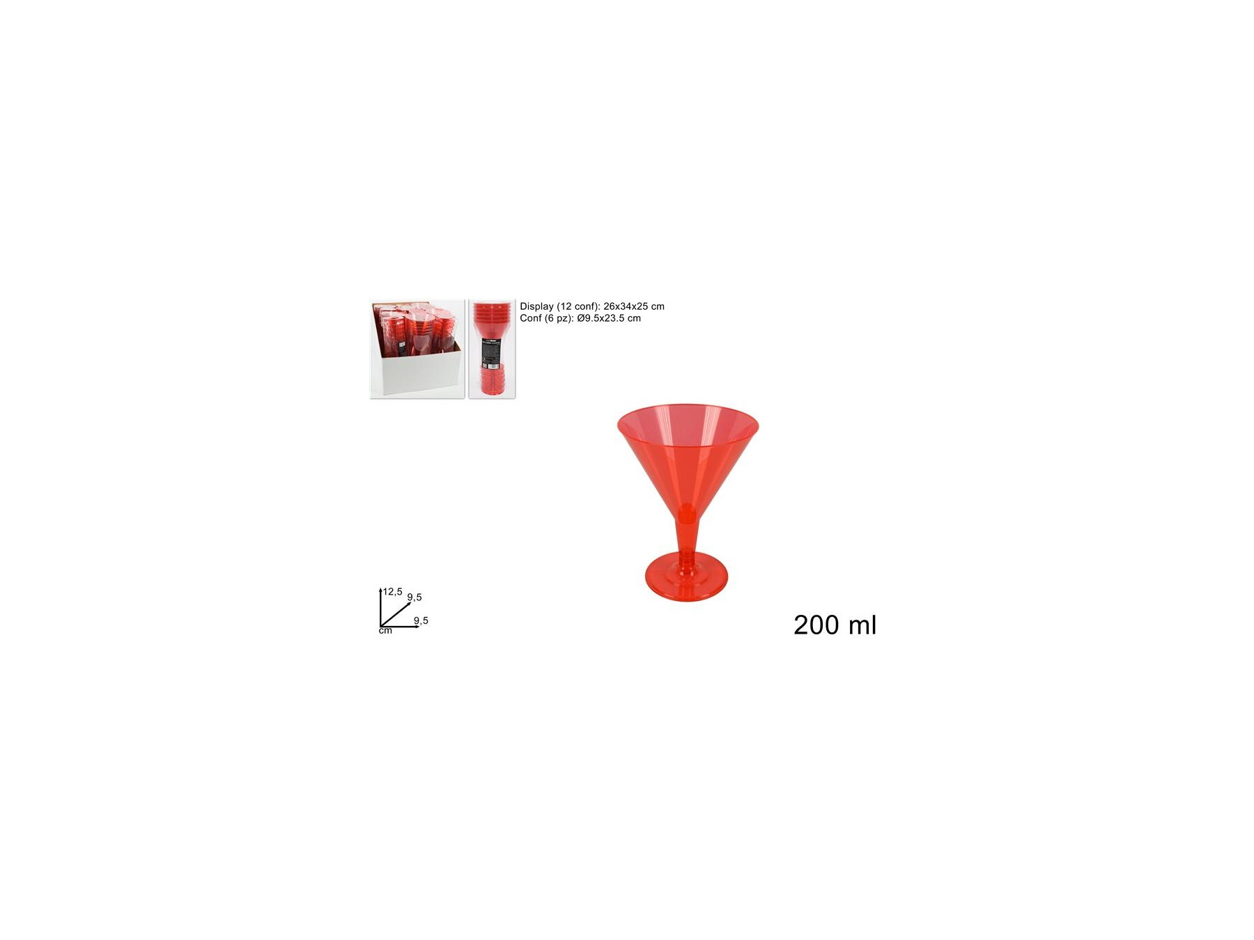 BICCH.COCKTAIL 6PZ RED