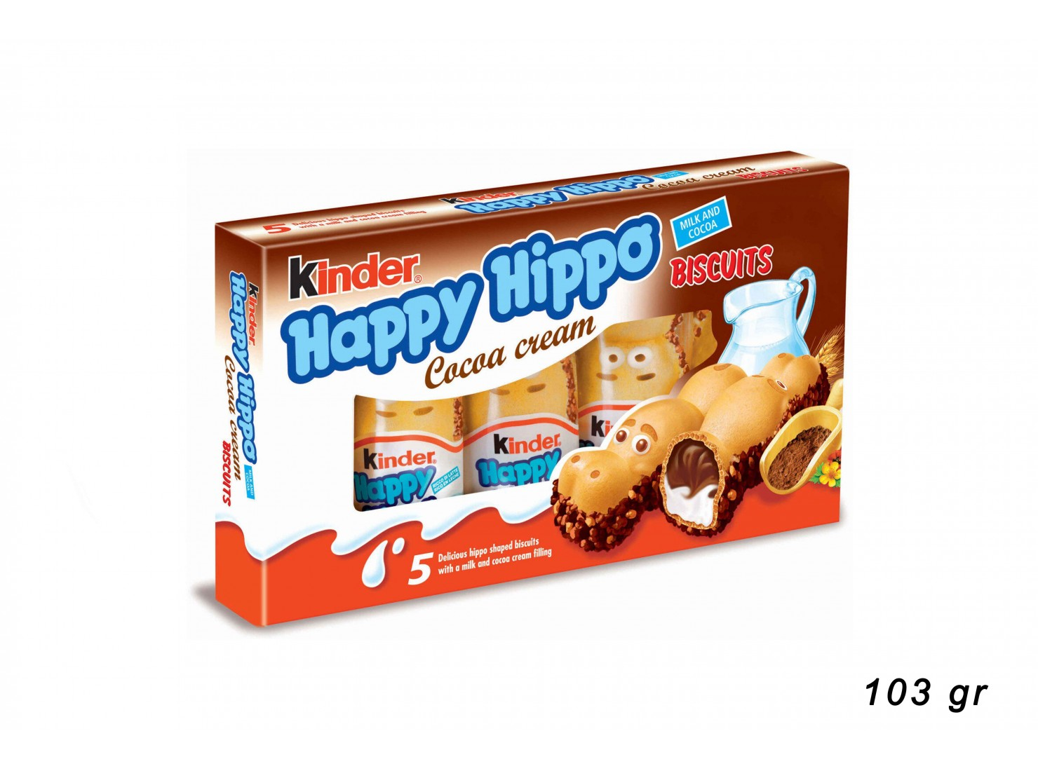 HAPPY HIPPO CACAO 5 PZ KINDER