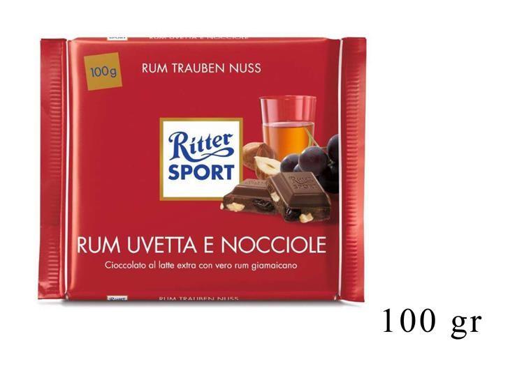 RITTER SPORT RUM UVETTA E NOCCIOLE 100GR@