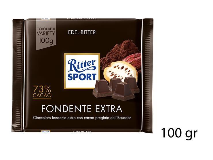 RITTER SPORT FONDENTE EXTRA 73% CACAO 100GR@