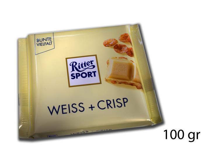 RITTER SPORT WEISS+CRISP 100GR@