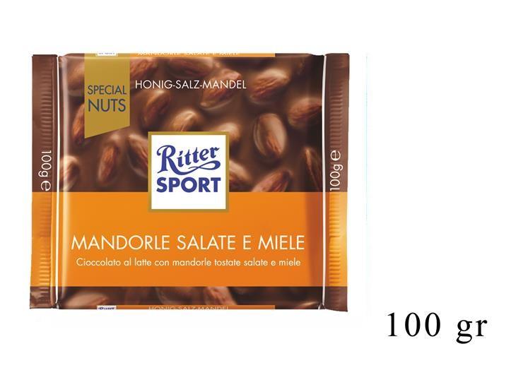 RITTER SPORT MANDORLE SALATE E MIELE 100GR@