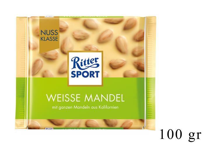 RITTER SPORT WEISSE MANDEL 100GR@
