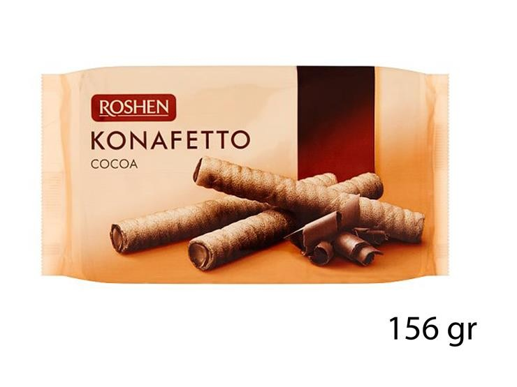 WAFER ROLLS KONAFETTO CACAO 156GR 92871@