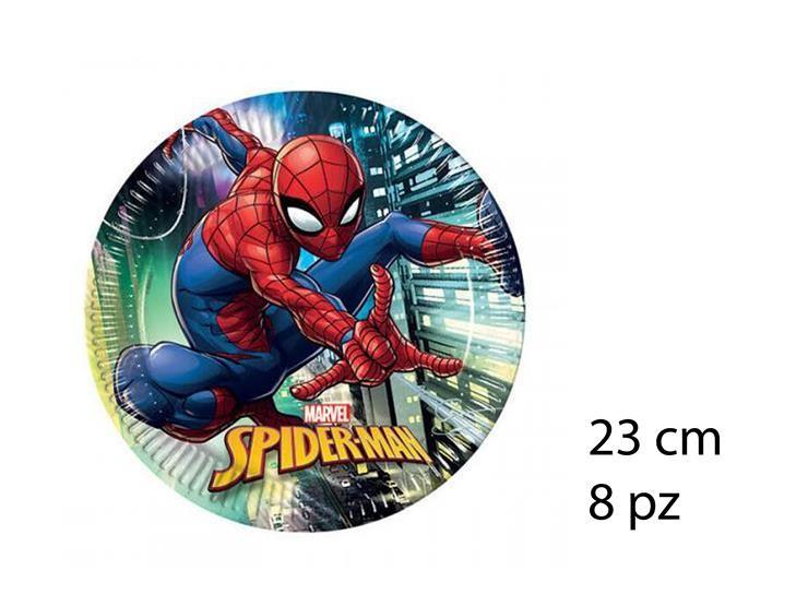 PIATTI SPIDERMAN 23CM 8PZ 89445