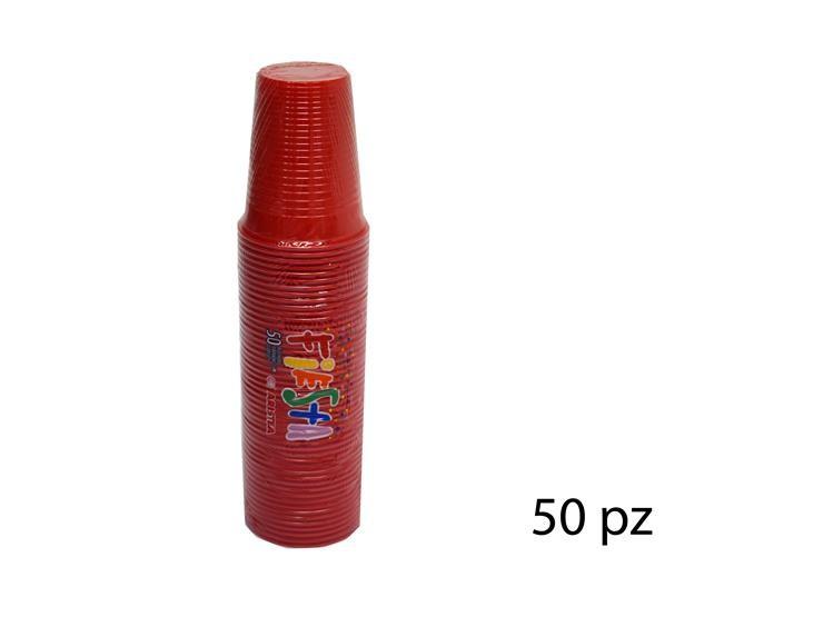 BICCHIERI FIESTA ROSSO 200CC 50PZ 218360