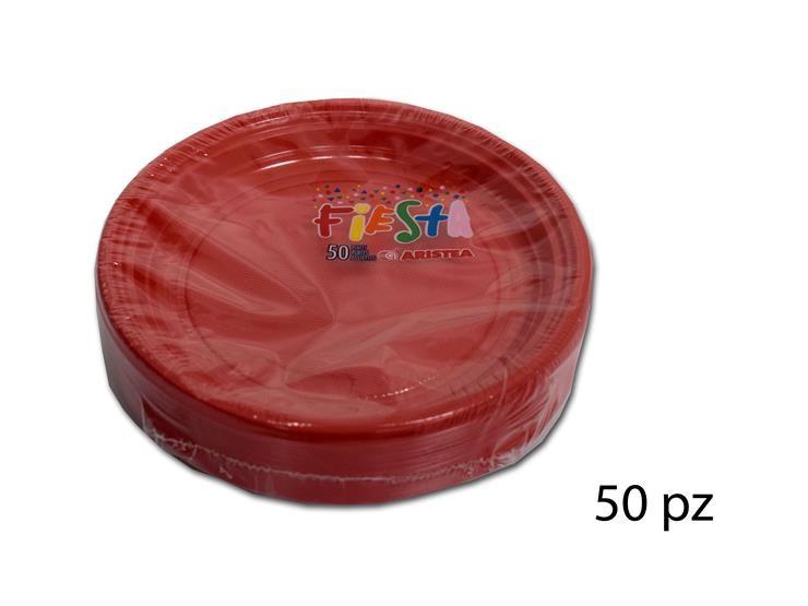 PIATTO DESSERT FIESTA ROSSO 50PZ 155850