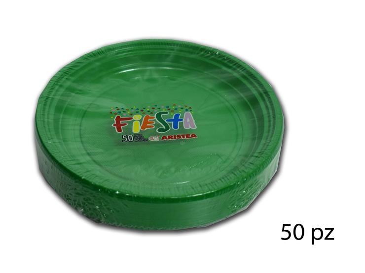 PIATTI DESS.FIESTA-TR. VERDE 50PZ 155852