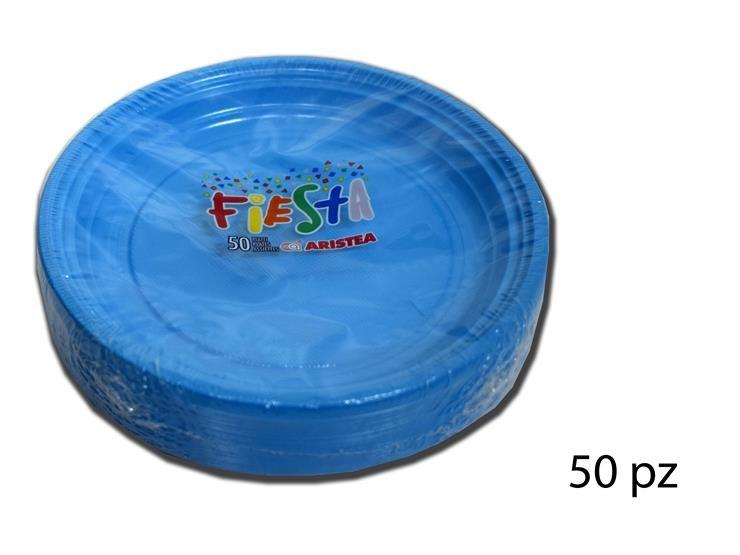 PIATTI DESS.FIESTA-TR.AZZURRO 50PZ 155853
