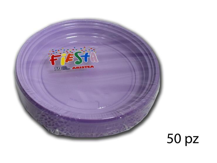 PIATTI DESS.FIESTA-TR.GLICIN. 50PZ 155858