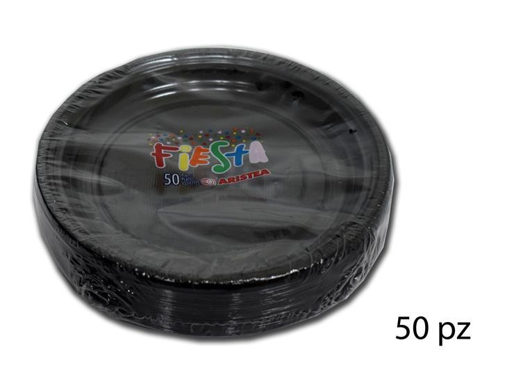 PIATTI DESS.FIESTA-TR. NERO 50PZ 155861