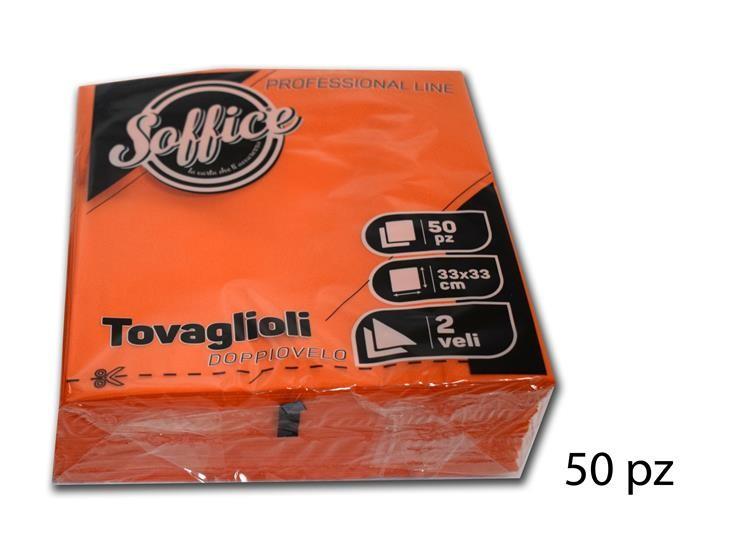TOVAGLIOLI SOFFICE 33*33 ARANCI 50PZ