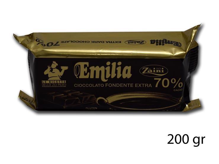 CIOCC. FOND 70% EMILIA 200GR 7031