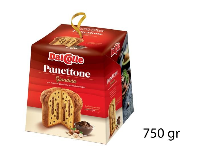 PANETTONE GIANDUJA E GOCCE DI CIOCC750GR 51120148