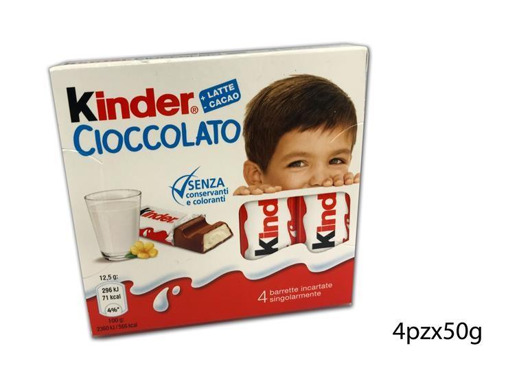 KINDER BARRETTA CIOCCOLATO 4PZX50GR 1014