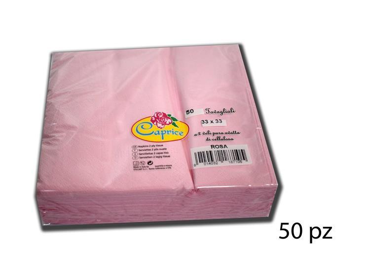 TOVAGLIOLI 2/V 33*33 ROSA 50PZ