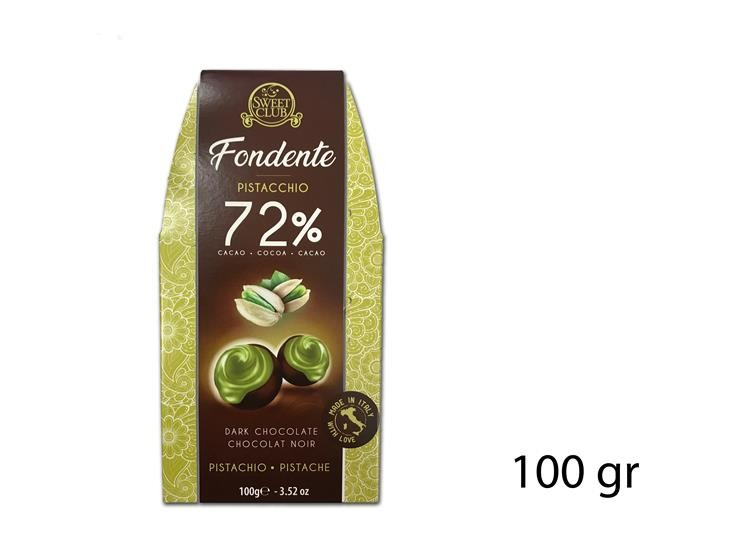 PRALINA FOND. 72% PISTACCHIO 100GR SC293