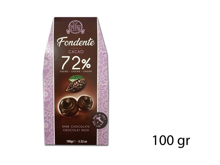 PRALINA FOND. 72% CACAO 100GR SC295