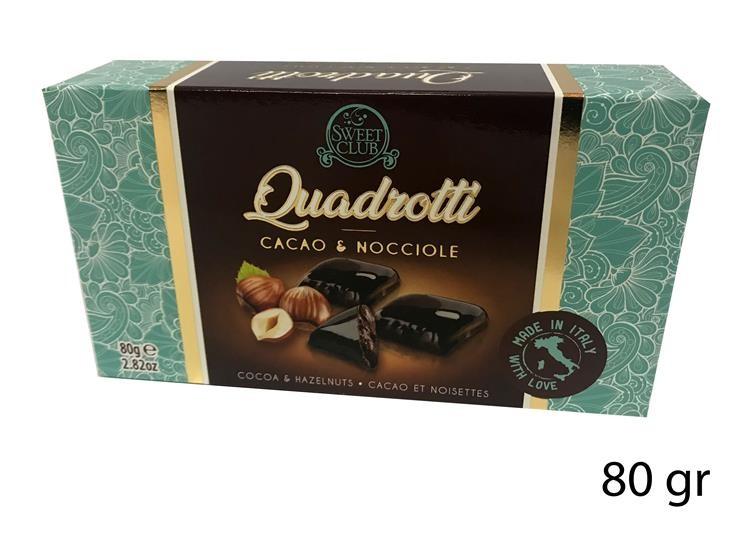 DOLCI QUADROTTI CAC/NOCCIOLE 80GR SC434