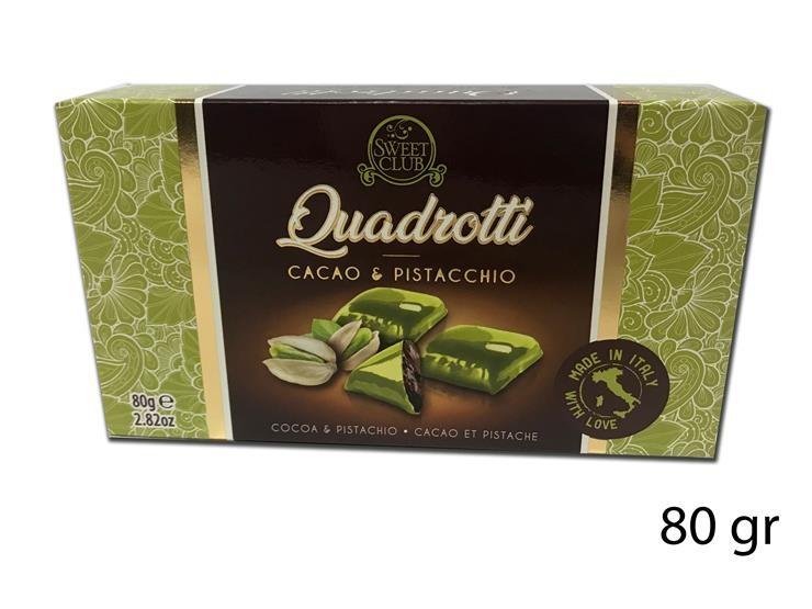 DOLCI QUADROTTI CAC/PISTACCHIO 80GR SC426