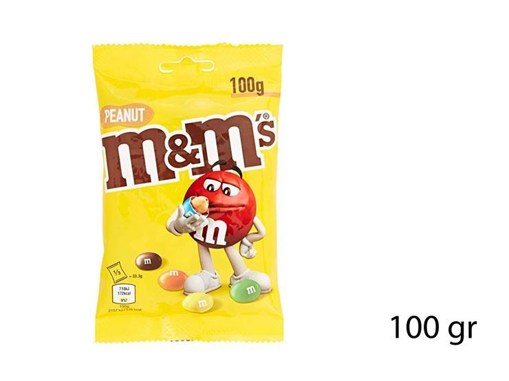 M&M'S PEANUT POUCH 100GR 13828