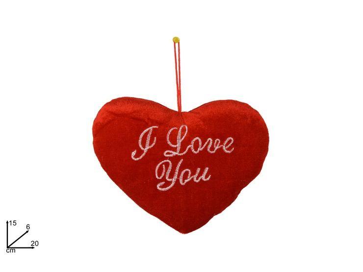 CUORE ROSSO ''I LOVE YOU'' 20CM