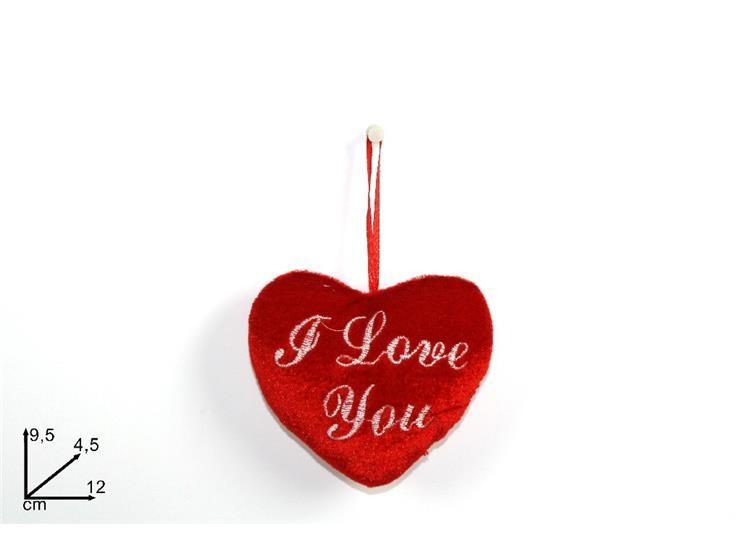 CUORE ROSSO I LOVE YOU PELUC. 12CM