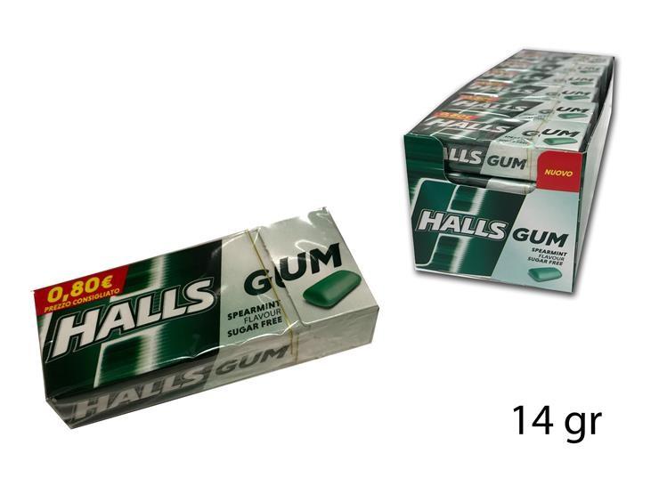 HALLS GUM SPEARMINT 14GR 4249151