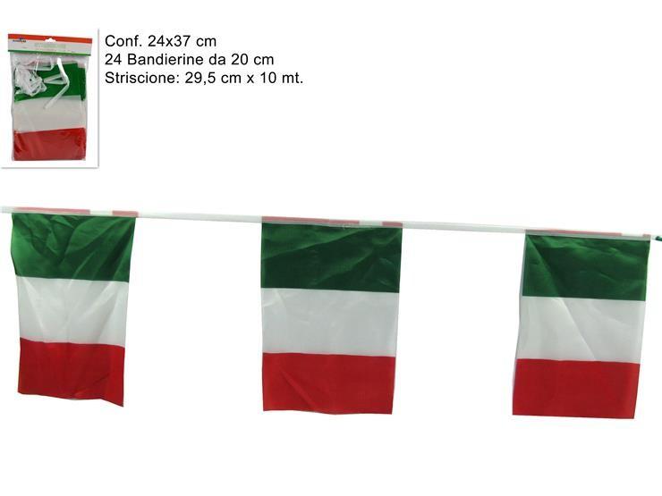 STRISCIONE BANDIERA ITALIA 24PZ SF208